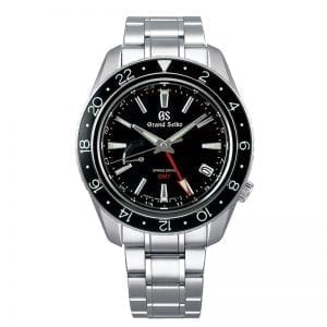 Grand Seiko GMT SBGE201 Spring Drive Black Dial Sapphire Bezel. Authorized Retailer for Grand Seiko and Seiko Watches.