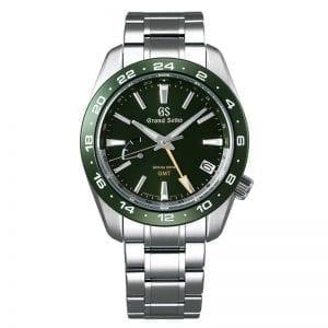 Grand Seiko SBGE257 GMT Spring Drive Green Dial. Authorized Retailer for Grand Seiko watches.