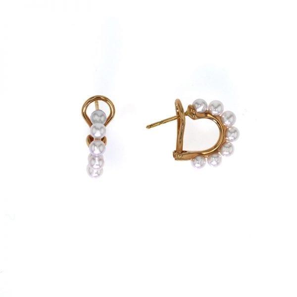 Mikimoto Pearl Hoop Earrings