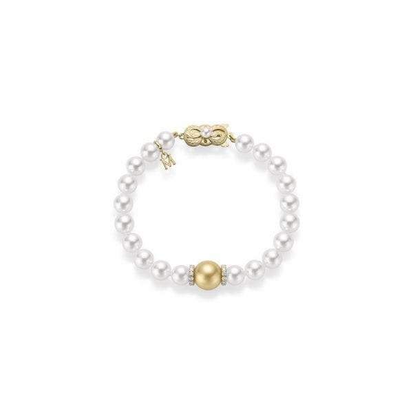 Mikimoto Fusion Golden South Sea and Akoya Cultured Pearl Bracelet
