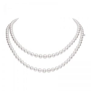 Mikimoto Graduated Double Strand Necklace